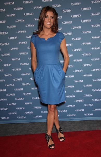 Kate Walsh in a frock