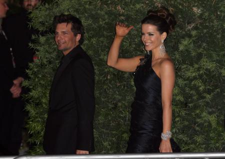 Kate Beckindale at Elton John's Oscar party