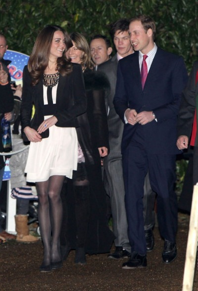 Kate Middleton and Prince William - Christmas 2010