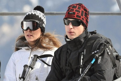 Kate Middleton and Prince William - French Alps