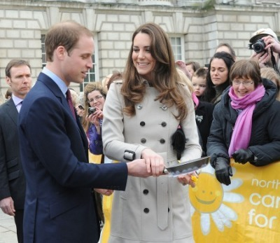 Kate Middleton and Prince William - Pancake Day