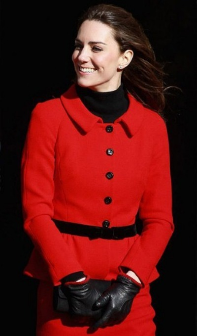 Kate Middleton - Red Suit