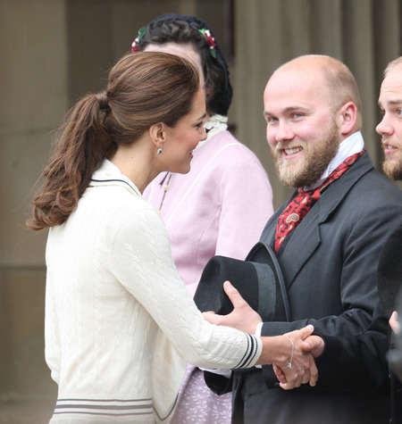 Kate Middleton's pretty ponytail