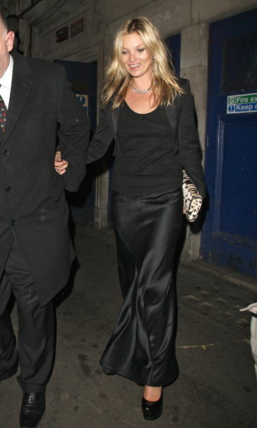 Kate Moss leaves Cafe de Paris