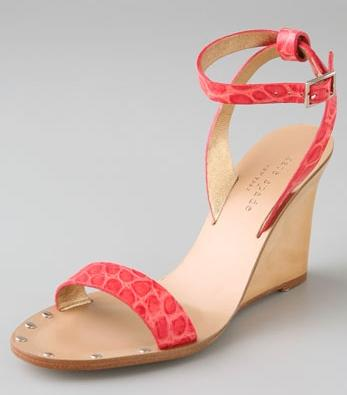 Kate Spade Croc-Embossed Sandals