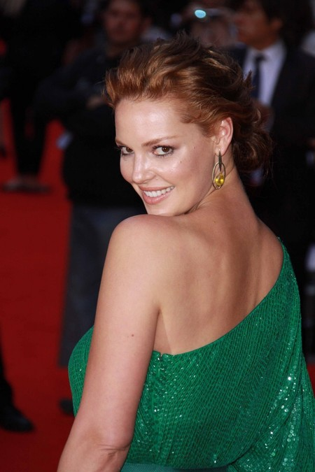 Katherine Heigl's Red Updo