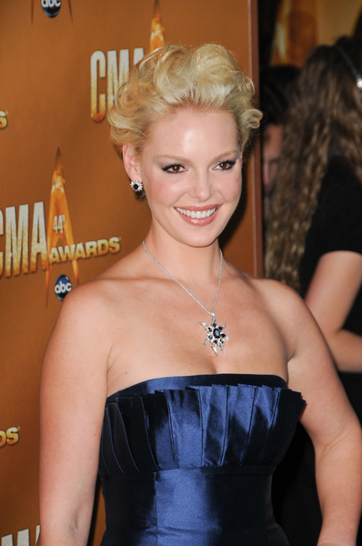 Katherine Heigl's messy, updo hairstyle