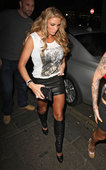 Katie Price arrives at Funky Buddha nightclub in London