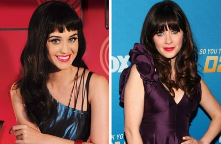 Katy Perry and Zooey Deschanel