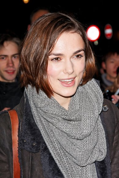 Keira Knightley's classic, bob hairstyle