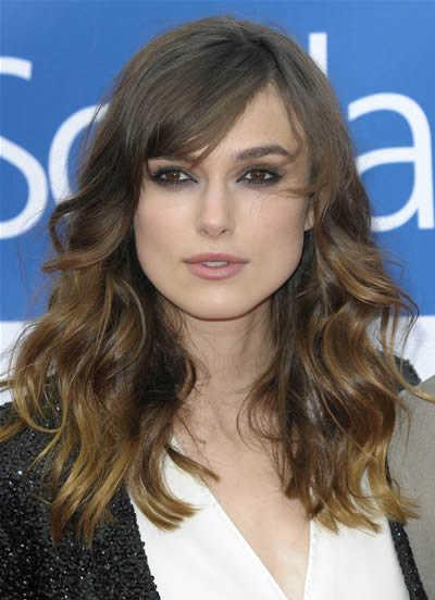 Keira Knightley's Long Layered Wavy Hairstyle