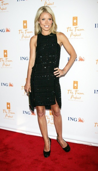 Kelly Ripa in embellished LBD