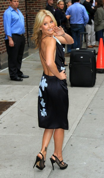 Kelly Ripa in flower print