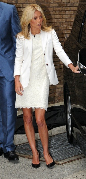Kelly Ripa in white lace