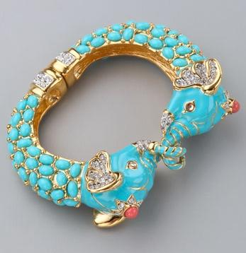 Kenneth Jay Lane Elephant Bracelet