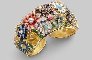 Kenneth Jay Lane Garden Party Cuff