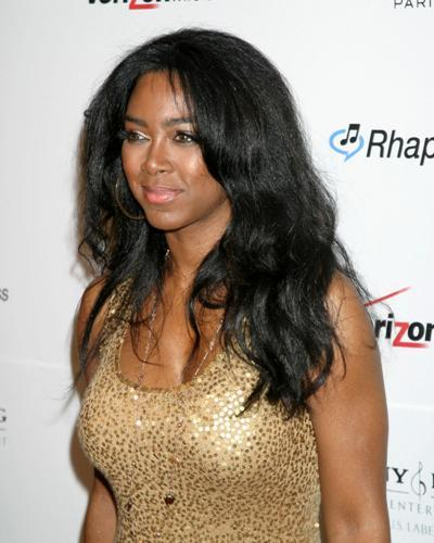 Kenya Moore at a Pre-Grammy Party in Los Angeles.