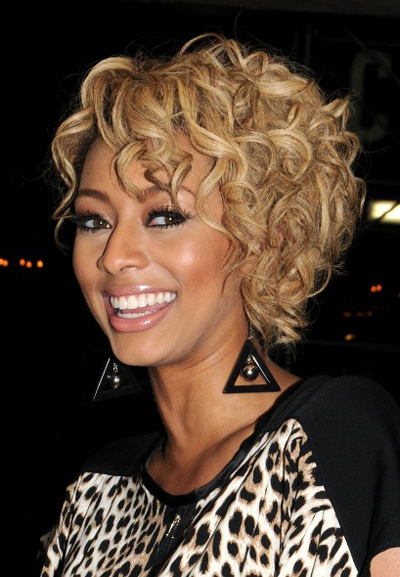 Keri Hilson's short, curly hairstyle