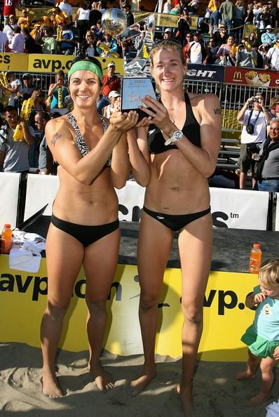 Kerri Walsh Holds the Trophy