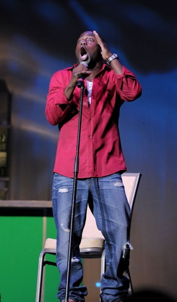 Kevin Hart performs at The ZSG Comedy Jam