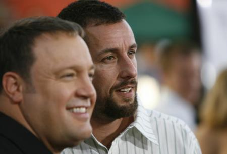 Kevin James and Adam Sandler at the I Now Pronounce You Chuck and Larry premiere