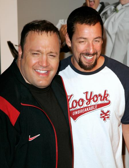 Kevin James and Adam Sandler share a laugh