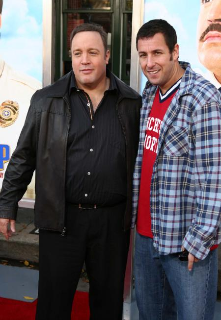 Kevin James and Adam Sandler at the Paul Blart: Mall Cop premiere