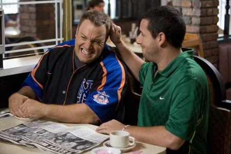Adam Sandler pulls Kevin James' hair
