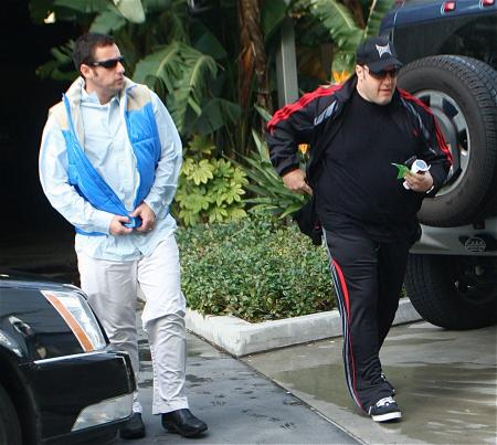 Kevin James and Adam Sandler wearing sunglasses