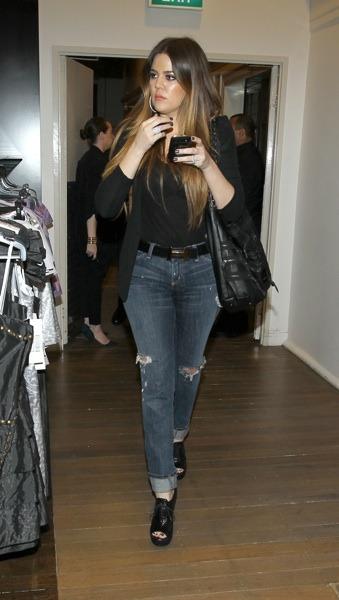 Khloe Kardashian in a black blazer
