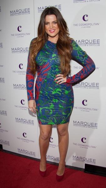 Khloe Kardashian in tight dress