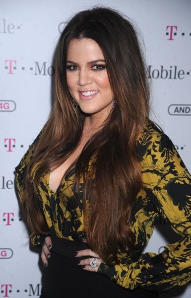Khloe Kardashian with dramatic make-up
