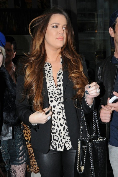 Khloe Kardashian in black blazer