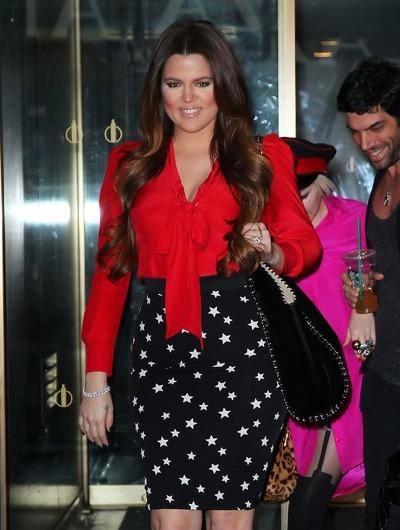 Khloe Kardashian in pencil skirt