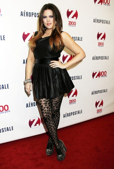 Khloe Kardashian in a LBD
