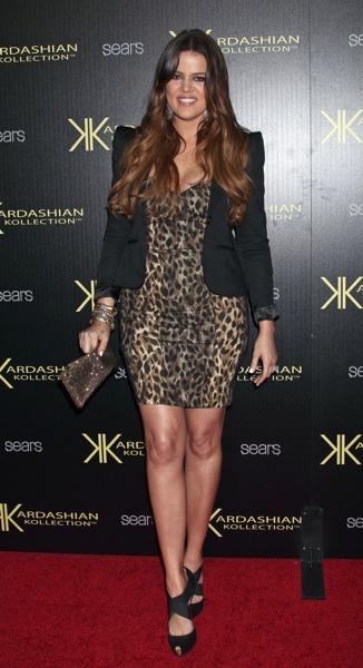 Khloe Kardashian in cropped blazer