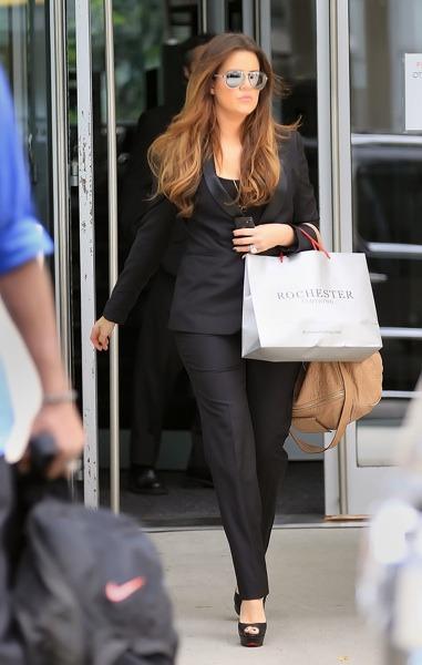 Khloe Kardashian in matching outfit