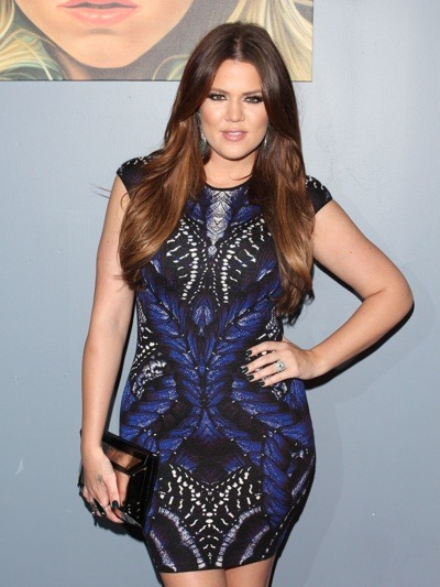 Khloe Kardashian with butterfly detail