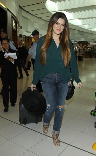 Khloe Kardashian at the airport