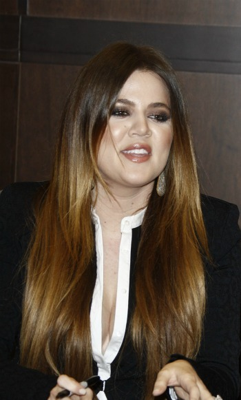 Khloe Kardashian's long straight locks for round faces