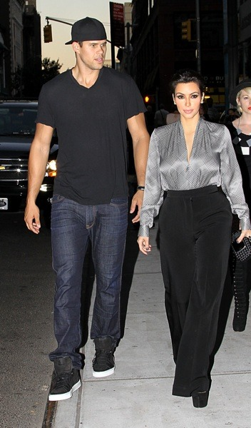 Kim Kardashian in slacks