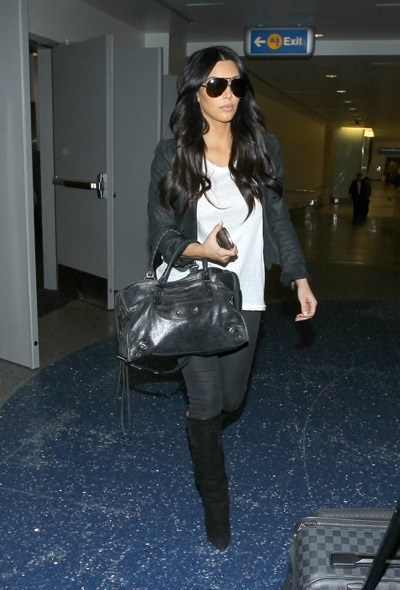 Kim Kardashian in a cropped jacket