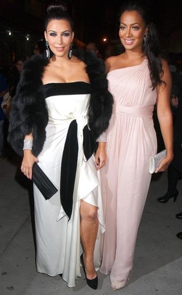 Kim Kardashian in a mini dress