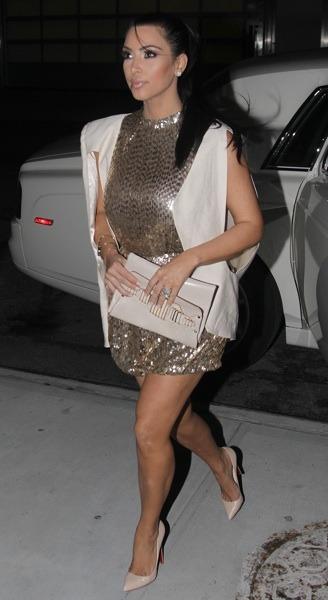 Kim Kardashian in sequins