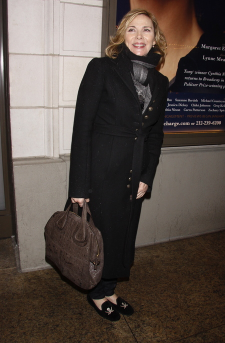 Kim Cattrall all bundled up in New York City