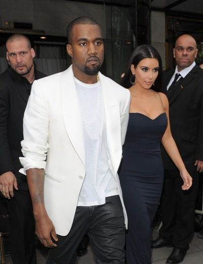 Kimye leave hotel in London