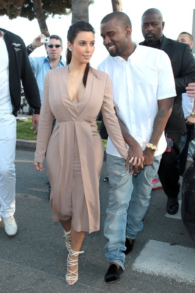 Kim Kardashian and Kanye West at Cannes Film Fest