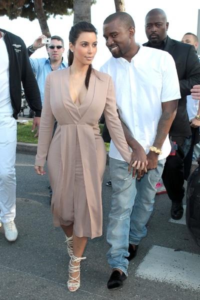 Kim Kardashian and Kanye West at Cannes Film Fest