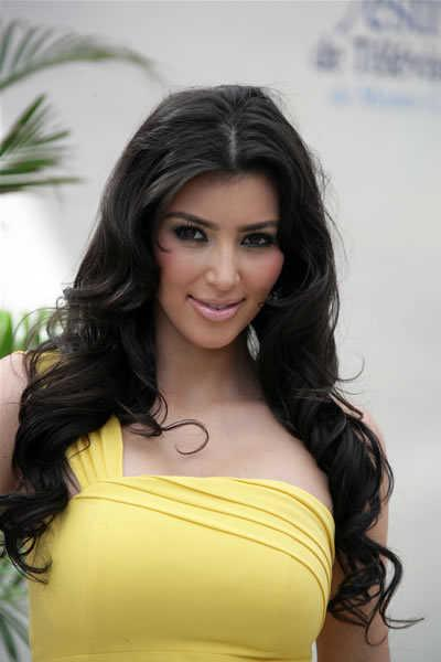 Kim Kardashian's Sexy Long Hairstyle