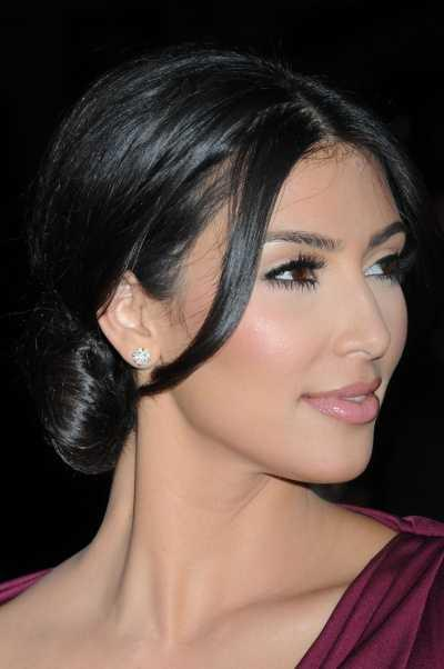 Kim Kardashian's Sexy Sleek Low Bun